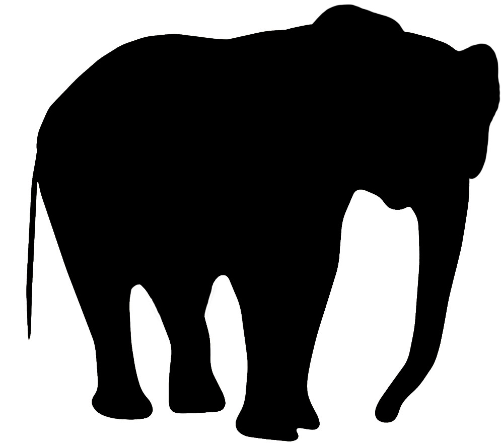 silhouette clip art of elephant ...