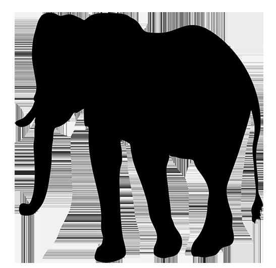 silhouette clip art of elephant, elephant silhouette clipart