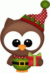 Silhouette Design Store - View Design owl santas elf pnc