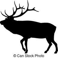 ... Silhouette Elk - Silhouette of an elk or reindeer