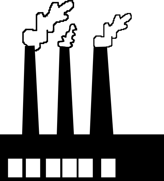 Silhouette Factories Clipart