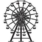 silhouette ferris wheel ...