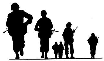 Silhouette free army clipart .