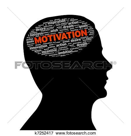 Silhouette head - Motivation - Motivation Clipart
