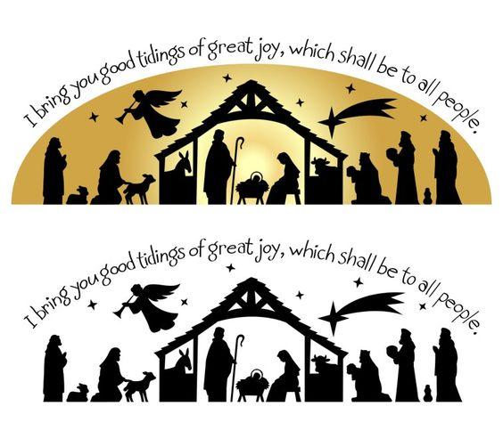 Silhouette u0026middot; nativity silhouette clip art ...