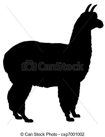 Silhouette Of Alpaca-Silhouette of alpaca-17