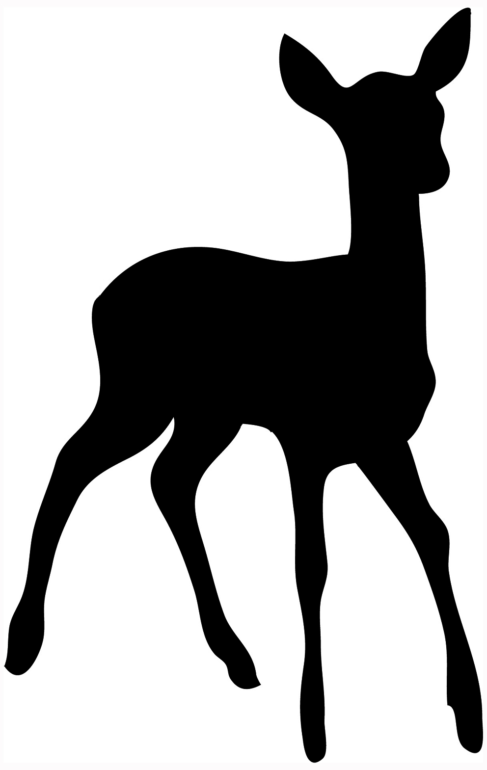 silhouette of stag, silhouette of young -silhouette of stag, silhouette of young deer-9