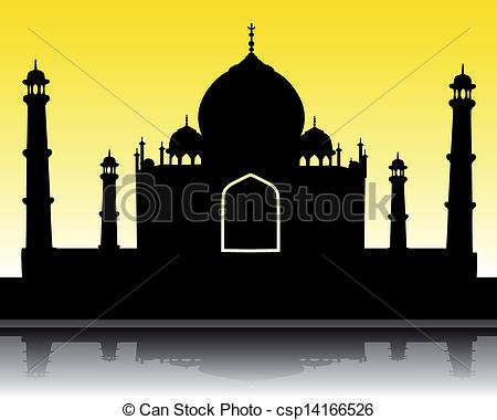 ... silhouette of the Taj Mah - Taj Mahal Clip Art