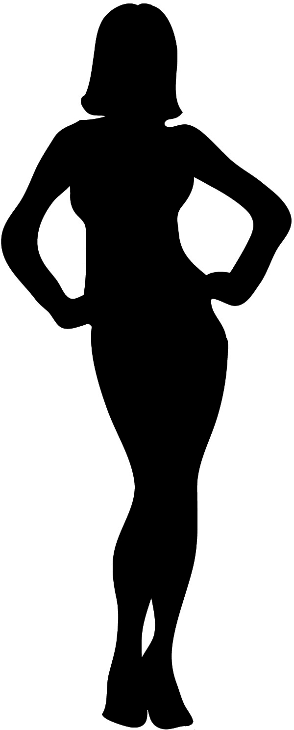 Silhouette Of Woman Outline, Female Silh-Silhouette of woman outline, female silhouette black with outline ...-14