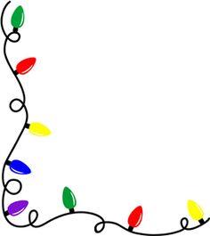 Silhouette Online Store: christmas light border