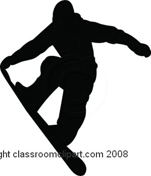 Silhouettes Snowboarding Silhouette 1108 17 Classroom Clipart