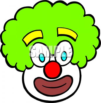 Silly Clown Face Clipart