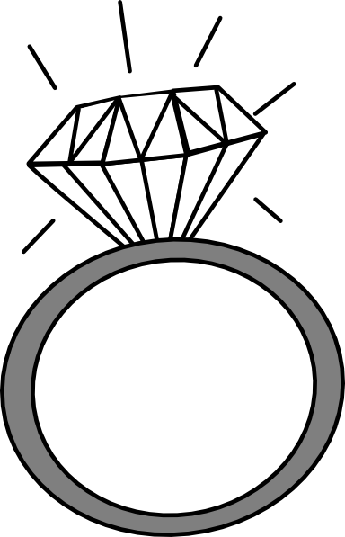 silver wedding ring clipart
