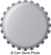 ... Silver bottle cap, illustration