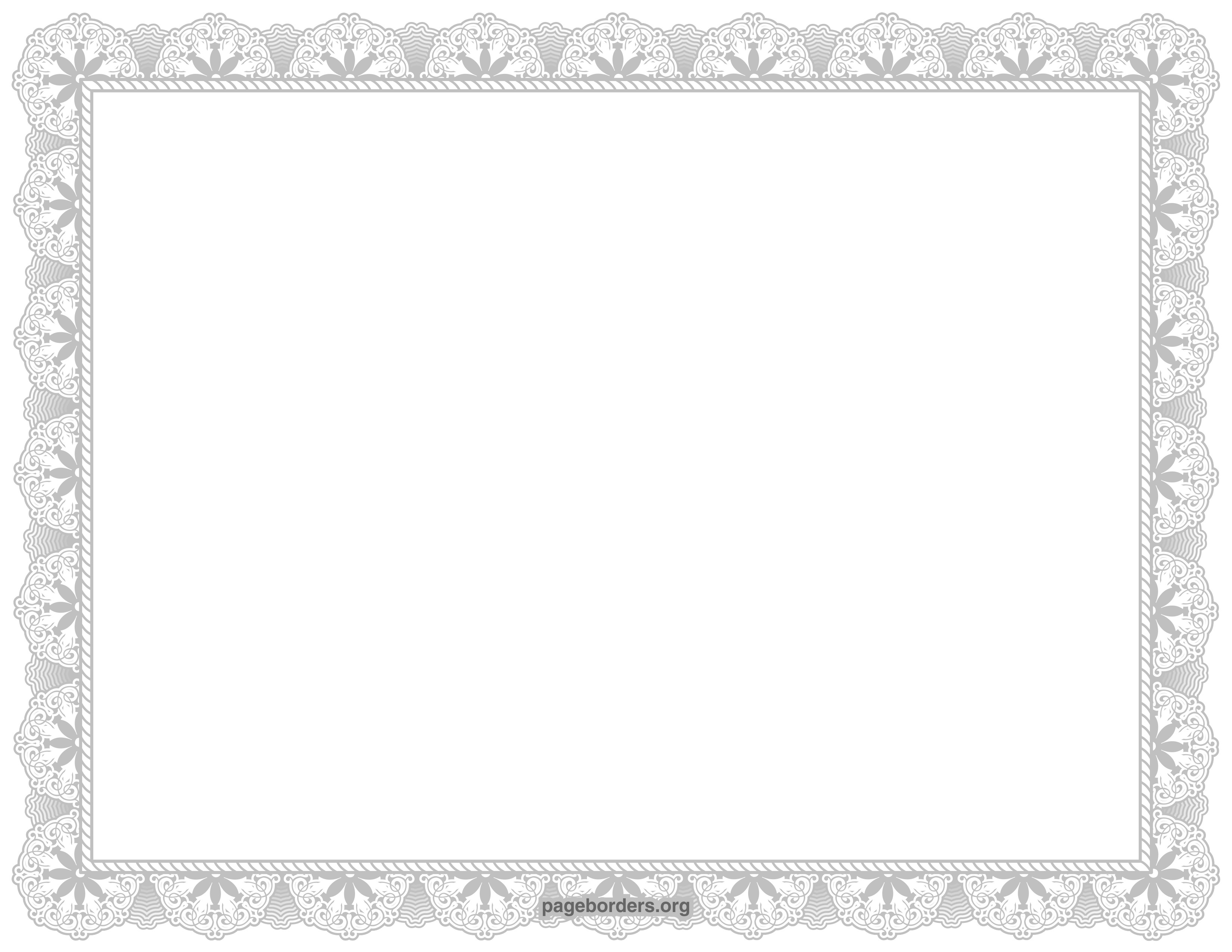 Silver Certificate Border Clip Art Page Border And Vector Graphics