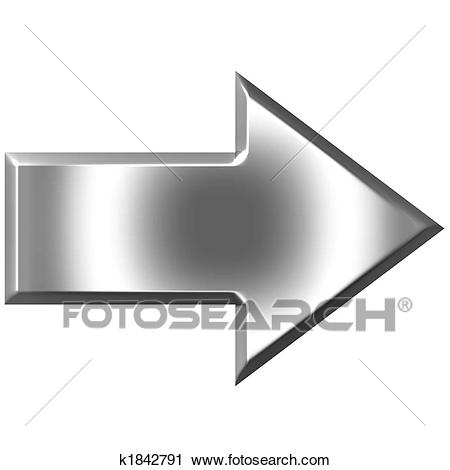 3d silver arrow isolated in white-3d silver arrow isolated in white-5