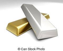. ClipartLook.com Gold and Silver - 3D rendered Illustration.
