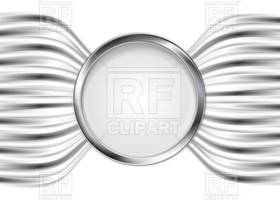 Round frame with silver border on bent metallic stripe, 59153, download  royalty-free ClipartLook.com