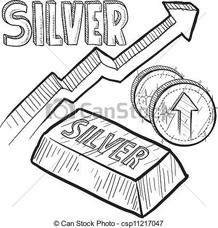 Silver price increase sketch - csp112170-Silver price increase sketch - csp11217047-9