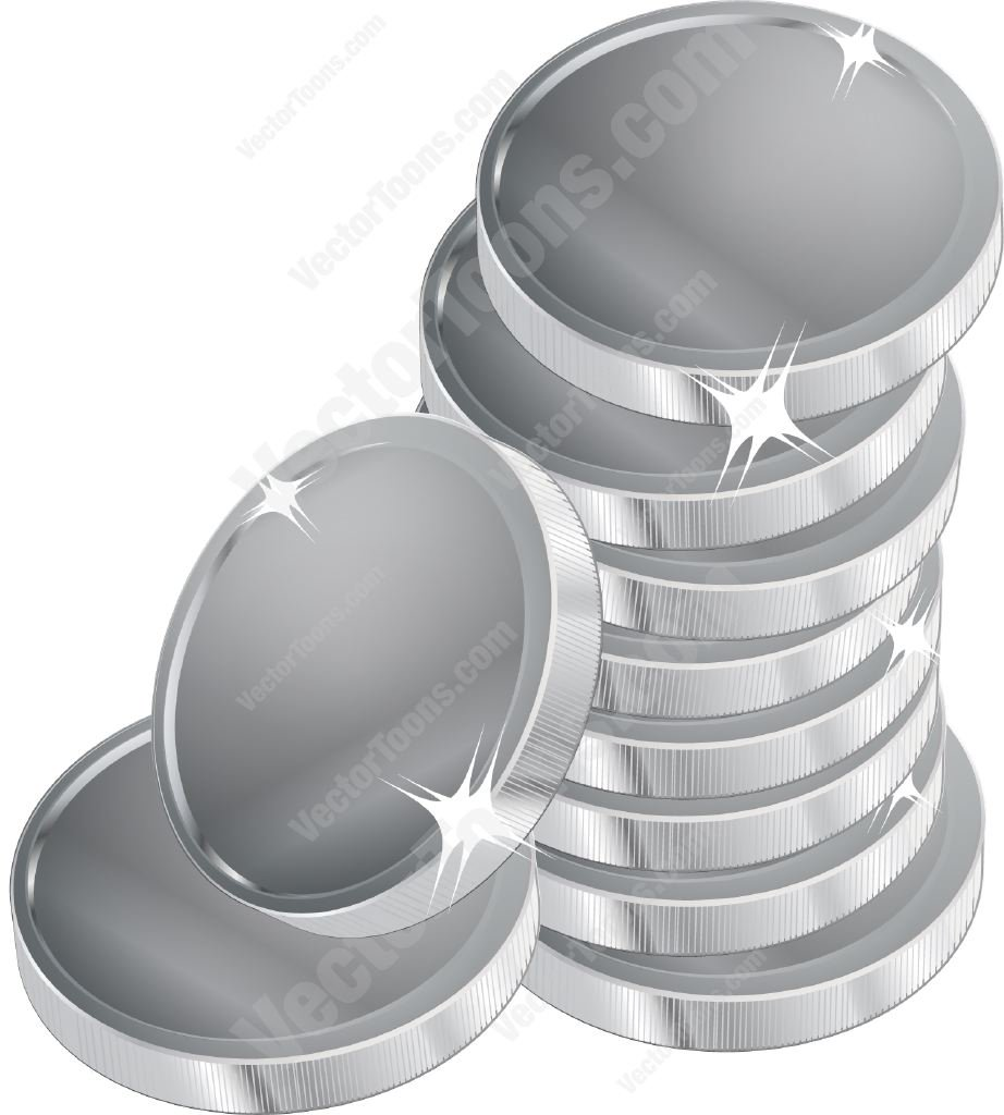 Stack Of Silver Coins Cartoon Clipart-Stack Of Silver Coins Cartoon Clipart-6