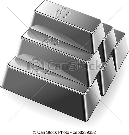 Vector Set Of Silver Bars-Vector Set Of Silver Bars-1