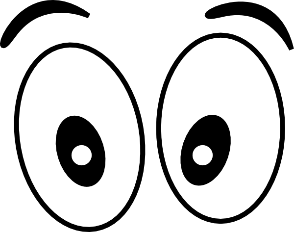 simple eye clipart black and white