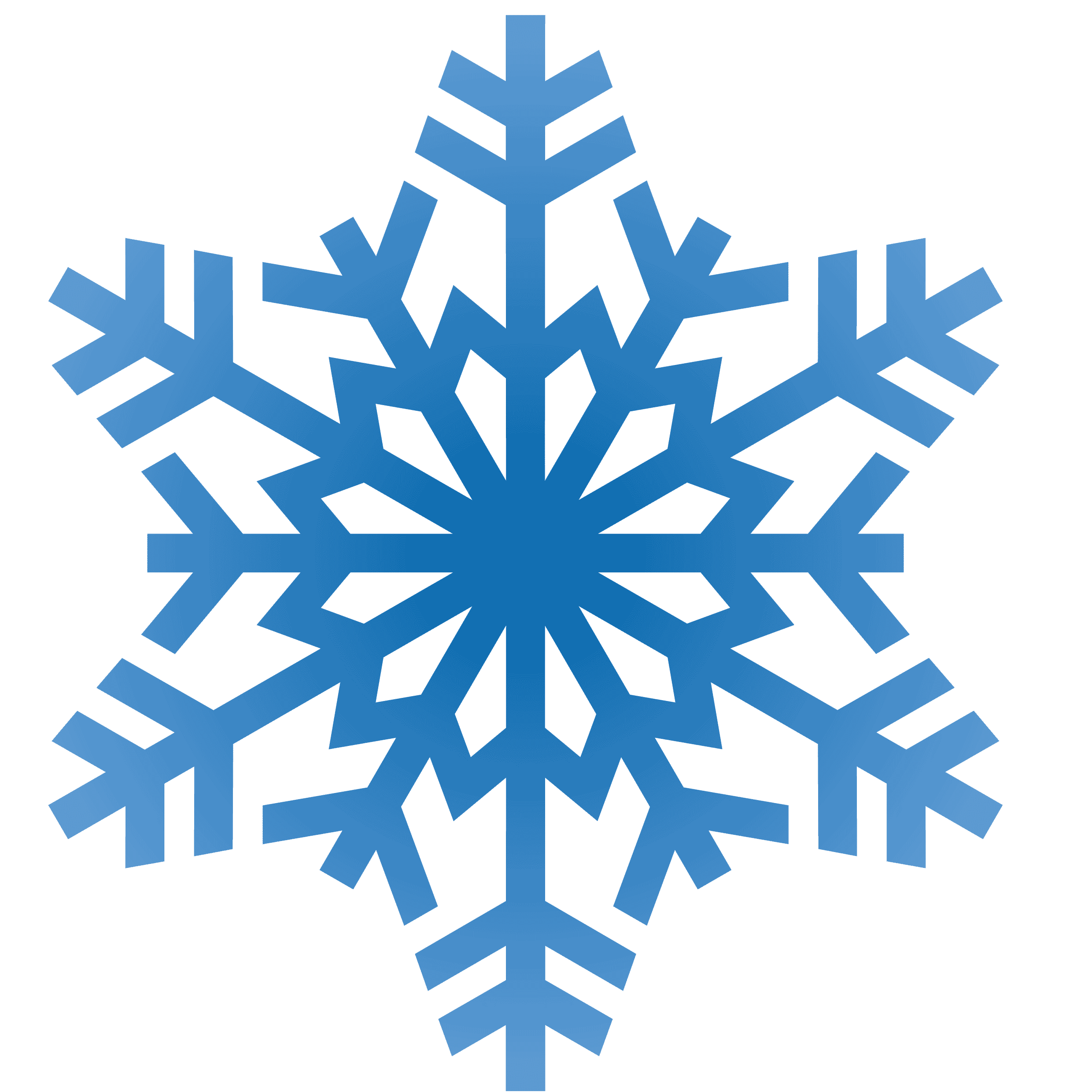 simple snowflake clipart