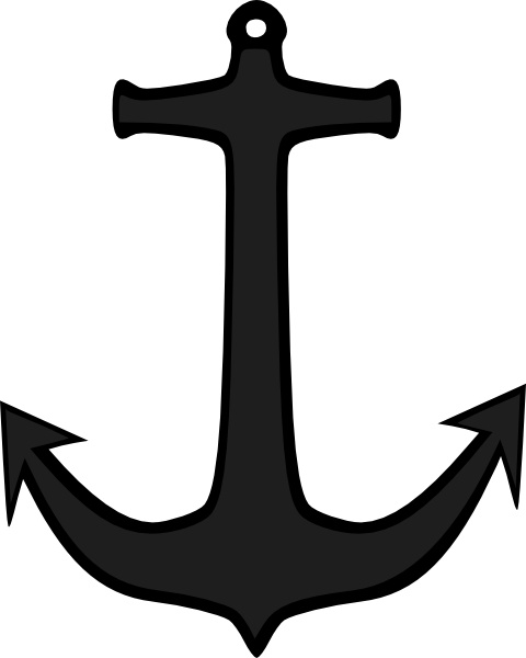 Simple Anchor clip art Free vector 45.05KB