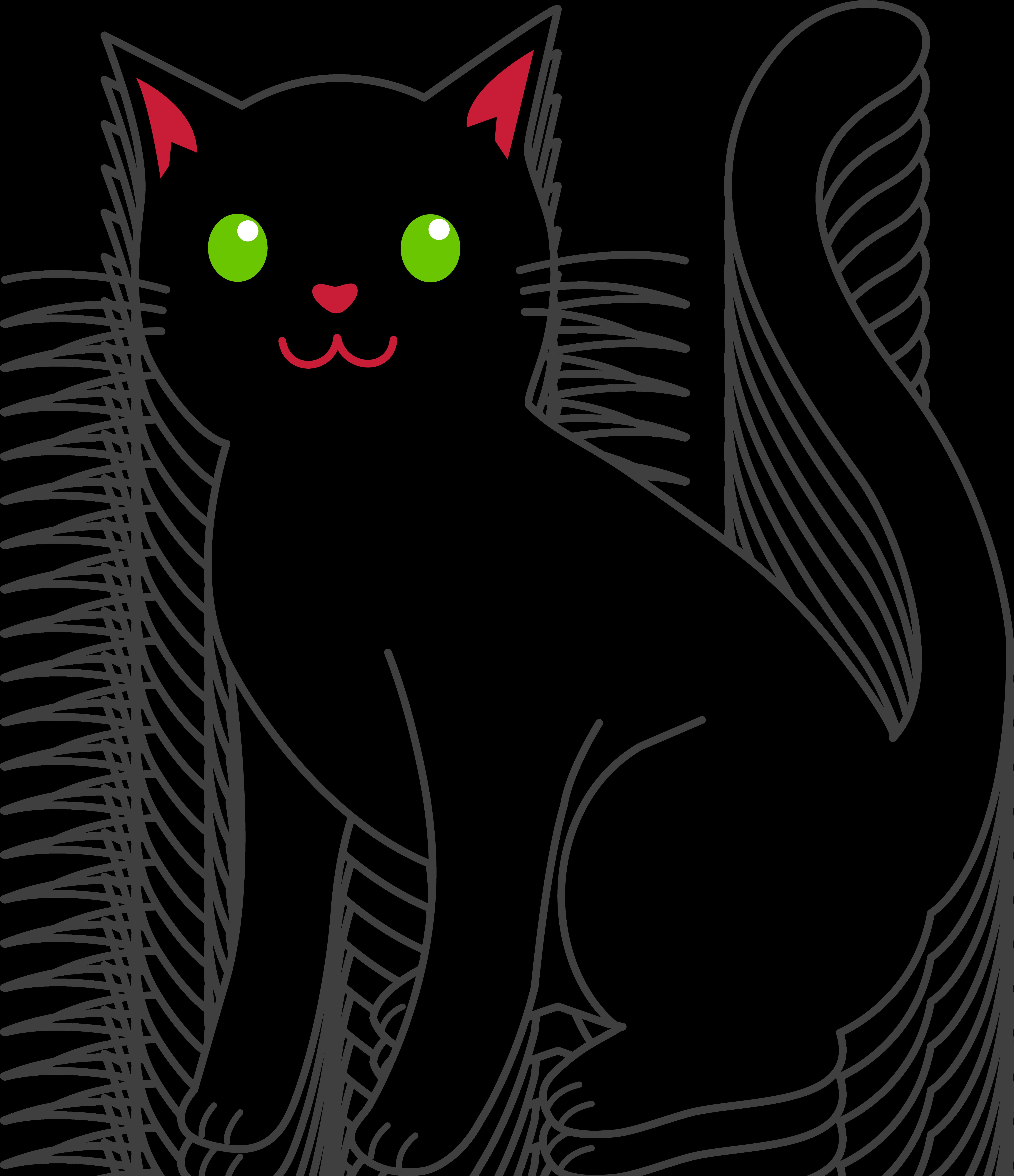 Simple Black Halloween Cat - Free Clip A-Simple Black Halloween Cat - Free Clip Art-16
