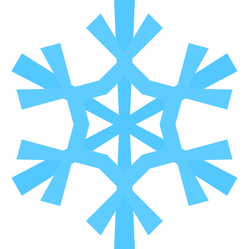 Simple Christmas Snowflake Ic - Clip Art Snow Flake
