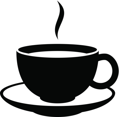 Simple coffee or tea cup icon.