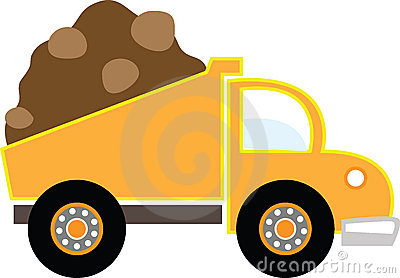 Simple Dump Truck Royalty Free .-Simple Dump Truck Royalty Free .-15