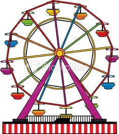 simple ferris wheel Royalty . - Ferris Wheel Clipart