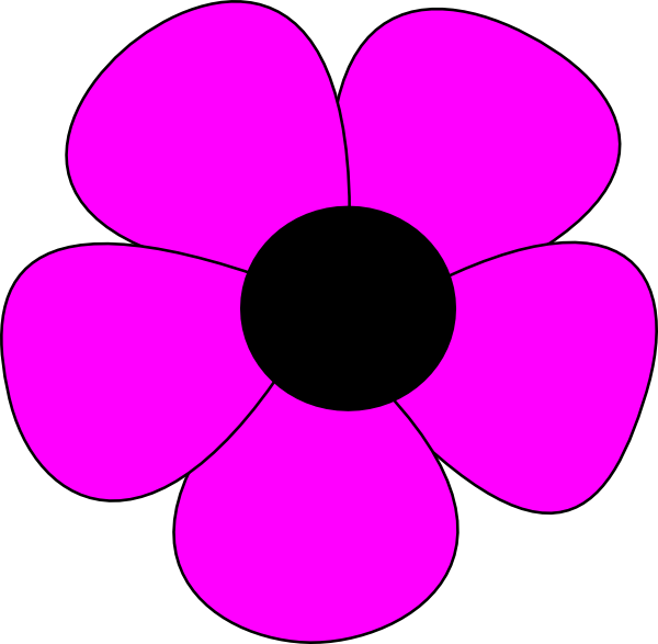 Simple Flower Clip Art At Clker Com Vector Clip Art Online Royalty