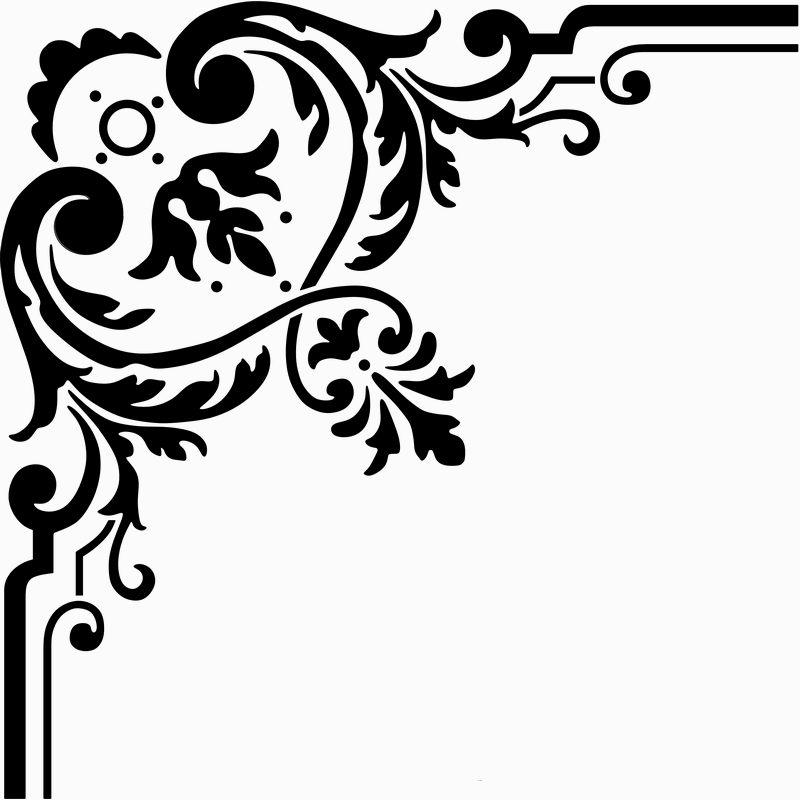 Simple Flower Corner Clipart