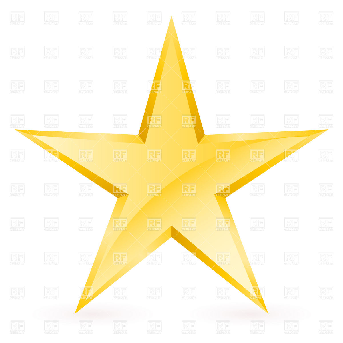 Simple Gold Star 8279 Download Royalty F-Simple Gold Star 8279 Download Royalty Free Vector Clipart Eps-9