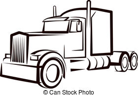 ... Simple Illustration With A Truck-... simple illustration with a truck-13