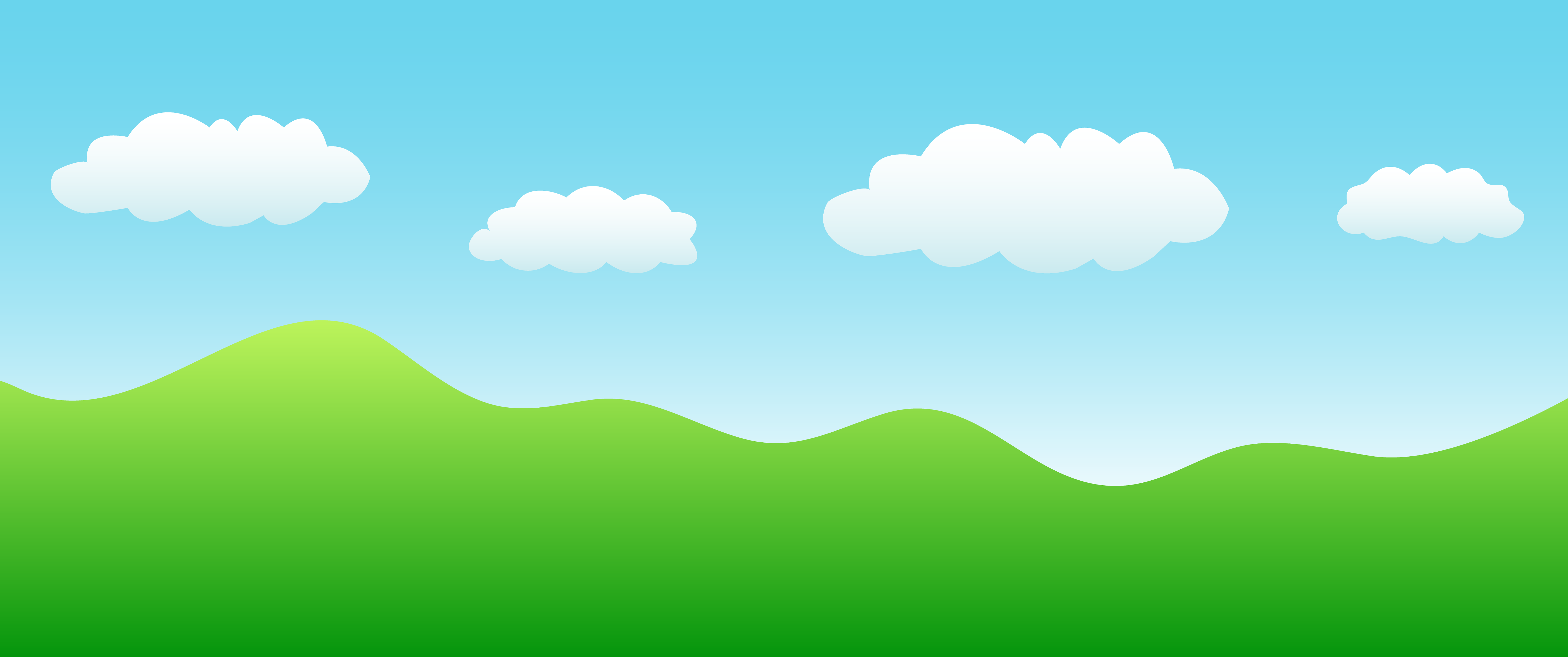 Simple Landscape With Hills And Sky Free Clip Art