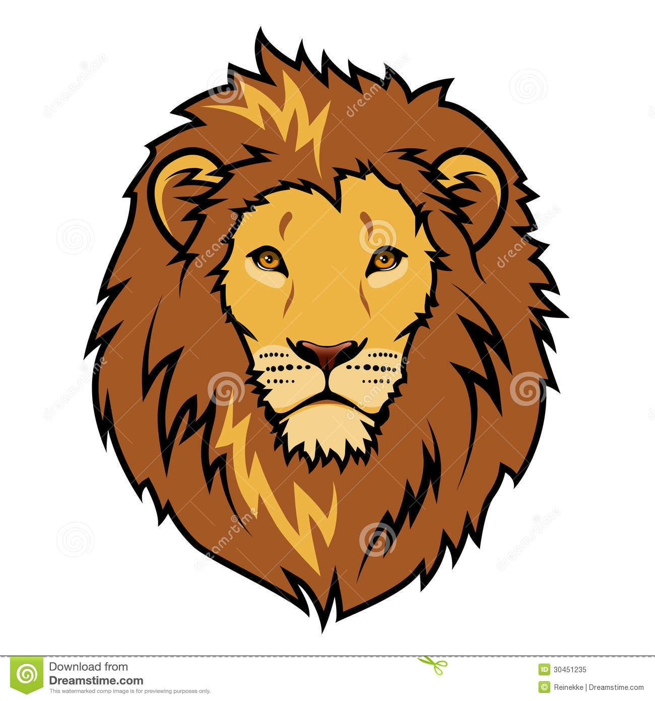 Simple Lion Head Clipart