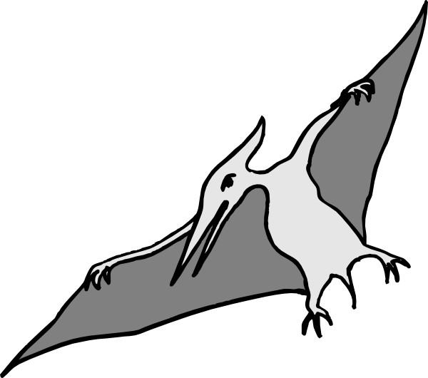 Simple Pterodactyl Art Clip A - Pterodactyl Clipart