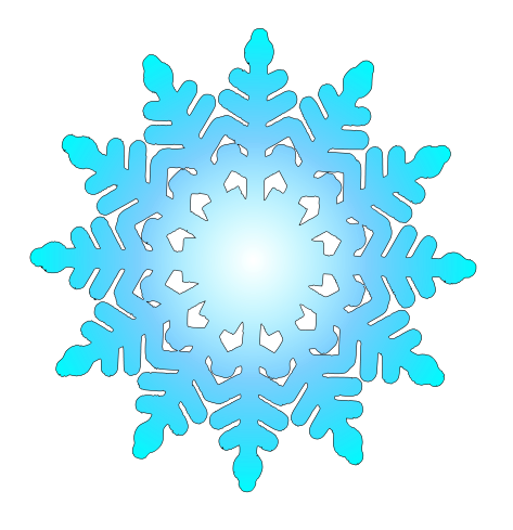 Simple Snowflake Clipart This - Clip Art Snowflakes