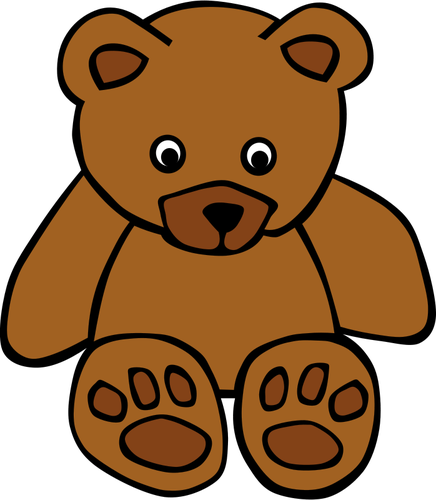 Simple teddy bear vector drawing