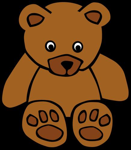 Simple Teddy Bear Vector Drawing-Simple teddy bear vector drawing-14