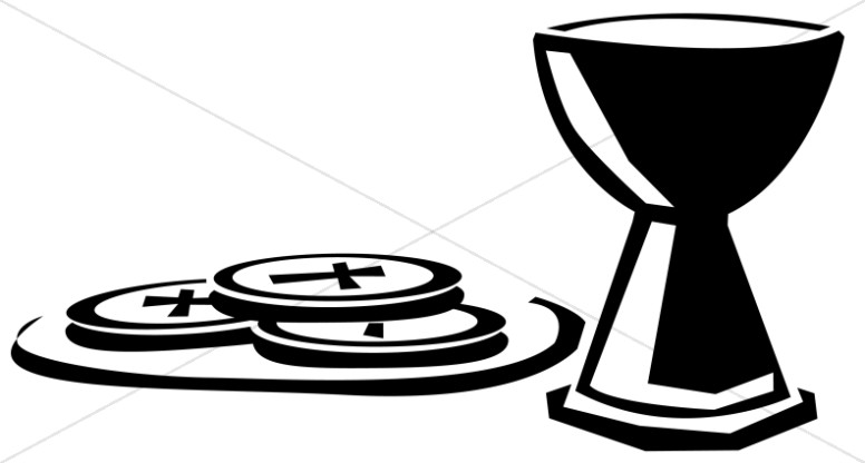 Simple Wafers and Communion C - Holy Communion Clip Art