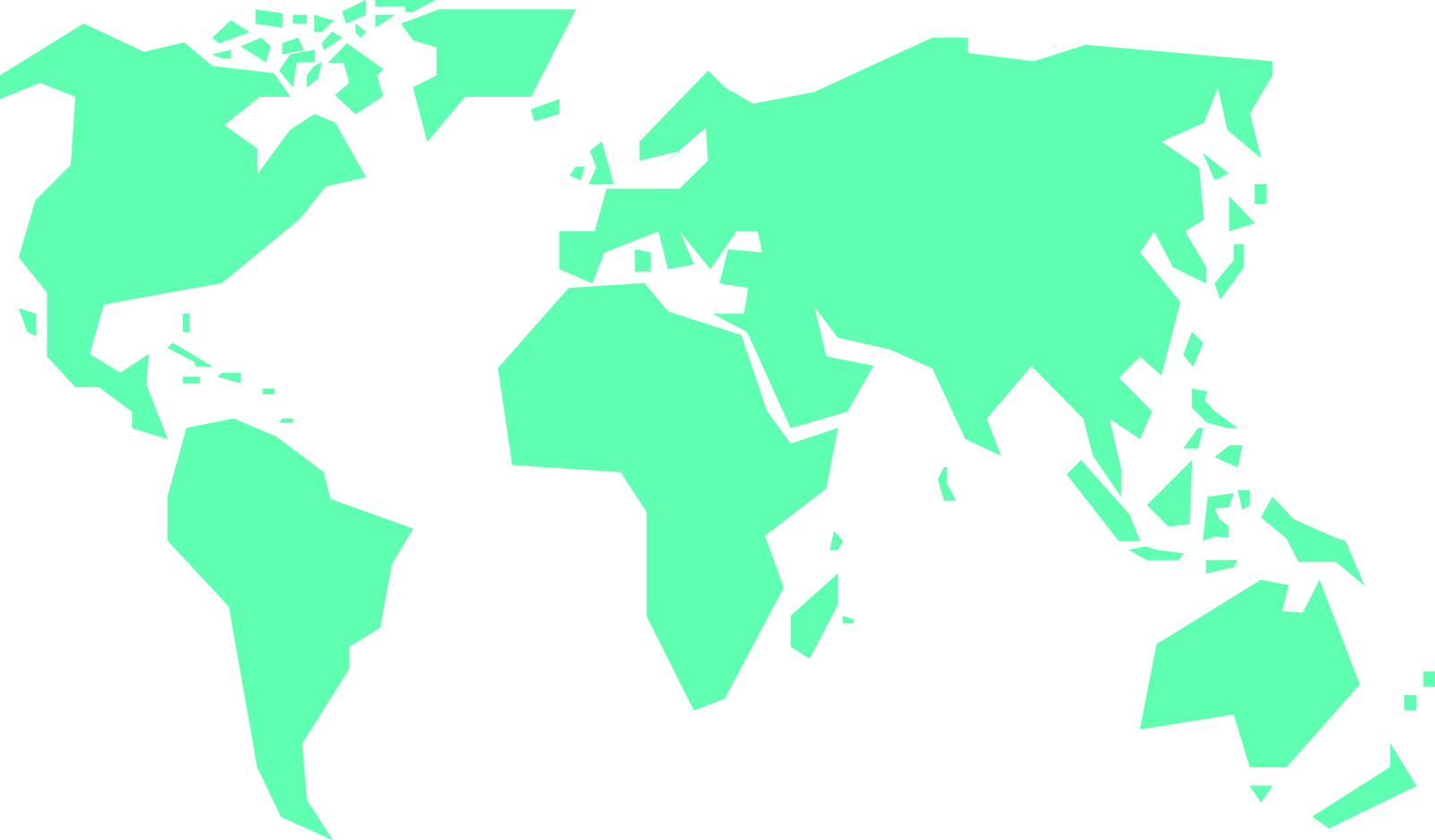 Simple World Map Clipart-Simple world map clipart-9