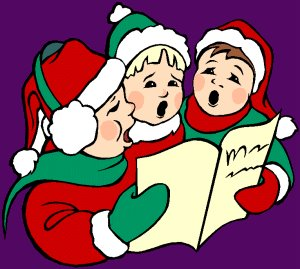Singing Christmas Carols. carol_singing