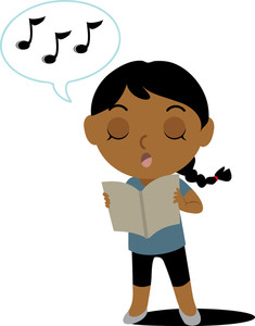 Singing Clipart Clip Art Illustration Of-Singing Clipart Clip Art Illustration Of An Ethnic Girl Singing From A-0