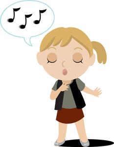 singing clipart - Sing Clip Art