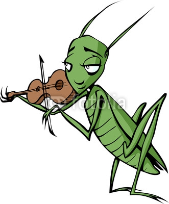 Singing Cricket Insect Clipart