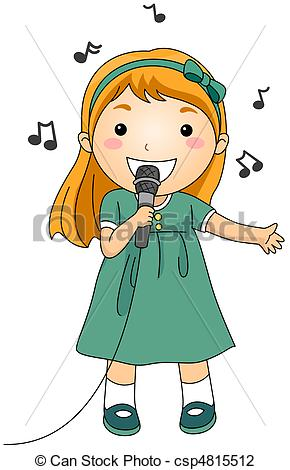... Singing Kid - Illustratio - Clipart Singing